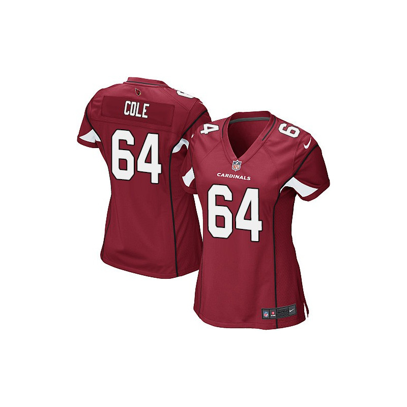 Rep your favorite team and player anytime in the Women s Mason Cole Game  Red Home Jersey Arizona Cardinals eb2898311